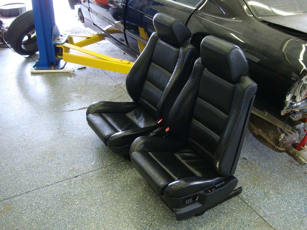 E34 Fs M5 M Sport Front Recaro Sport Seats Black