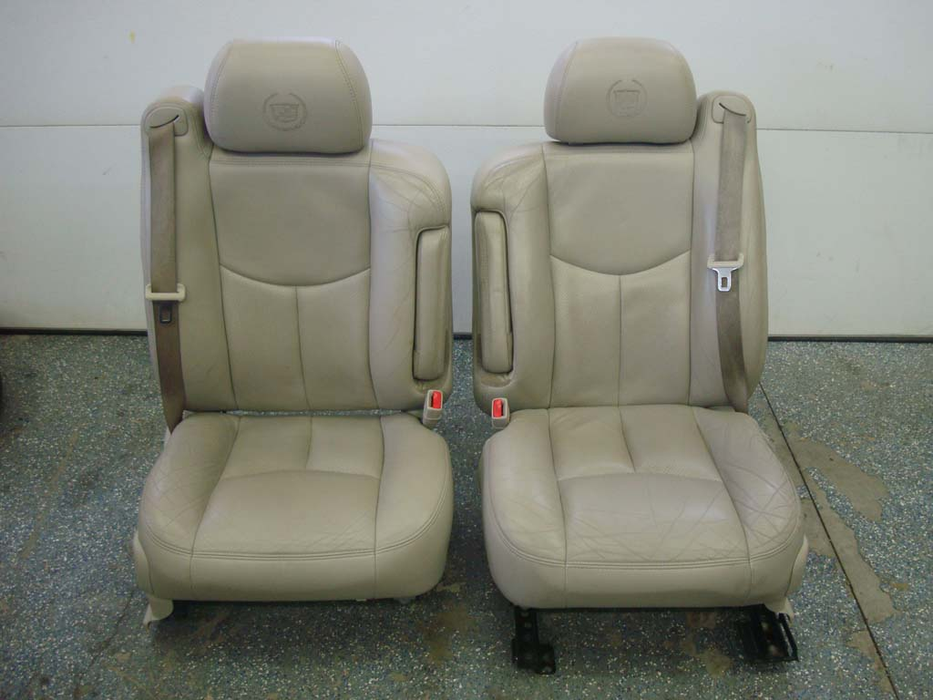 03-06 Escalade Leather Heated Power Seats Front Sierra ...